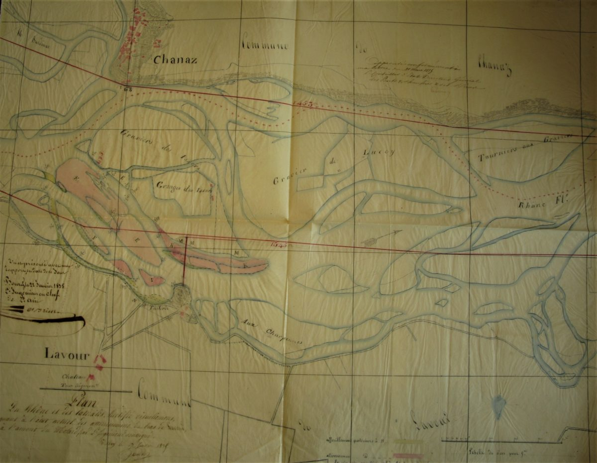 Le Haut-Rhône en 1835