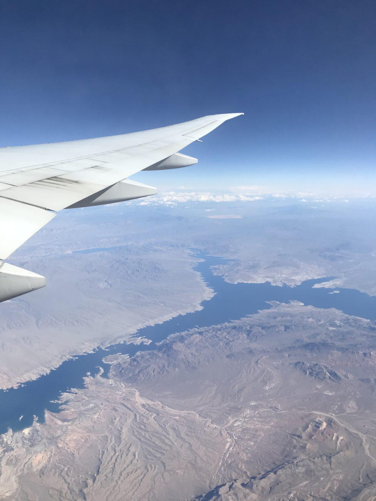 Le lac Mead vu du ciel